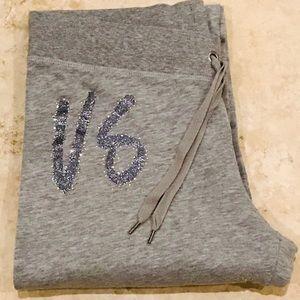 VS Gray Purple Glitter SUPERMODEL ESSENTIALS Pants